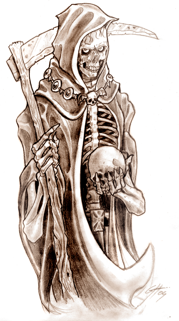 Grim Reaper Tattoos Designs- High Quality Photos and Flash Designs